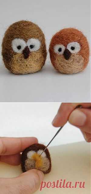 Как сделать смешных совят из обрезков пряжи | Ladies venue