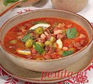 Солянка мясная, сборная, с грибами, рыбная. Рецепты супа солянки на Gastronom.ru