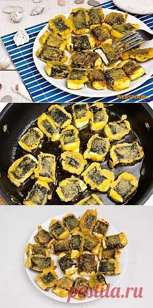 Любителям рыбных вкусов понравится это блюдо. Рецепт прост в приготовлении и может уверенно занять позицию постоянного гостя на обеденном столе. Хрустящий нутовый кляр со специями, с морским вкусом и нежной начинкой станут прекрасными компаньонами к рису, картошке пюре или макаронам.