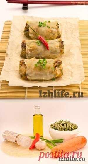 Кулинарный эксклюзив: Рисовые блинчики с пикантной начинкой