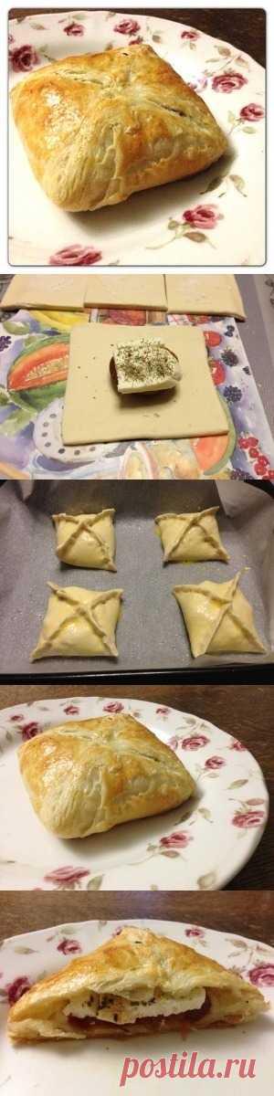 Конвертики с сыром.