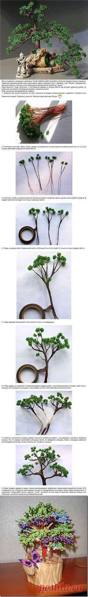 БИСЕРОПЛЕТЕНИЕ > Советы и фотоинструкции | Деревья из бисера | Схемы