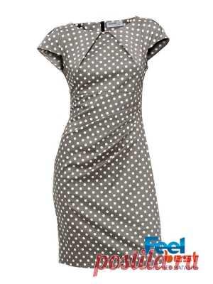 Платье женское моделирующее с рисунком в горошек, Class International