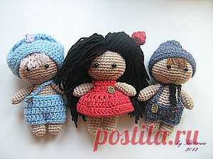 Как сделать волосы вязаной игрушке - Ярмарка Мастеров - ручная работа, handmade