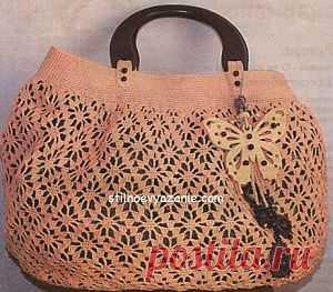 Летняя сумка связанная крючком / Стильное вязание
