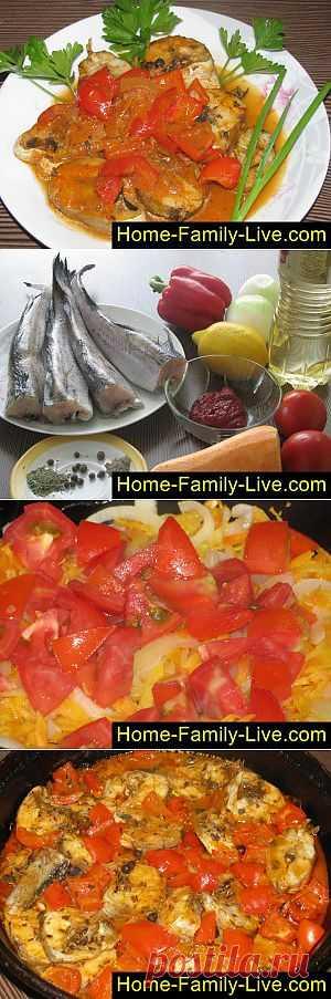 Тушеный минтай - пошаговый фоторецепт - рыба тушеная с овощами | Кулинарные рецепты