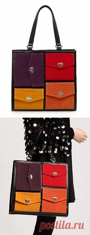 Сумка с кармашками / Сумки, клатчи, чемоданы / Модный сайт о стильной переделке одежды и интерьера