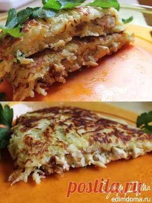 """La gallinita en """"Ажуре"""". El tostado de las patatas y la pechuga de pollo. Que aproveche"""