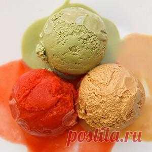 Три оригинальных вкуса мороженого