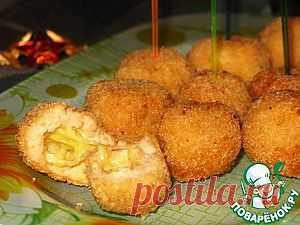 Хрустящие рыбные шарики с сыром - кулинарный рецепт