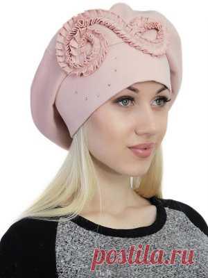 Трикотажный берет Валенсия с подкладкой на осень-весну для женщин – pilnikov.ru