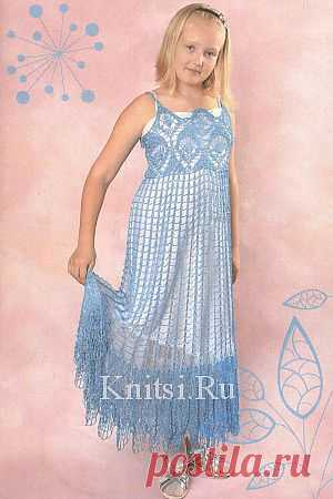 Ажурное платье. Вязание для детей / Детское / Крючком