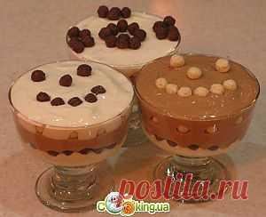 Творожный десерт Зебра