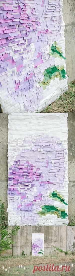 Бумажные стенки двух видов (DIY) / Праздничный декор / Модный сайт о стильной переделке одежды и интерьера