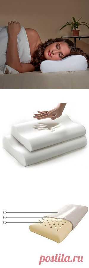 """Отличный сон обеспечит ортопедическая подушка """"Здоровый сон"""". Материал с """"памятью"""" поможет вашему телу принять удобное положение и запомнит его. Купить за 920 рублей."""