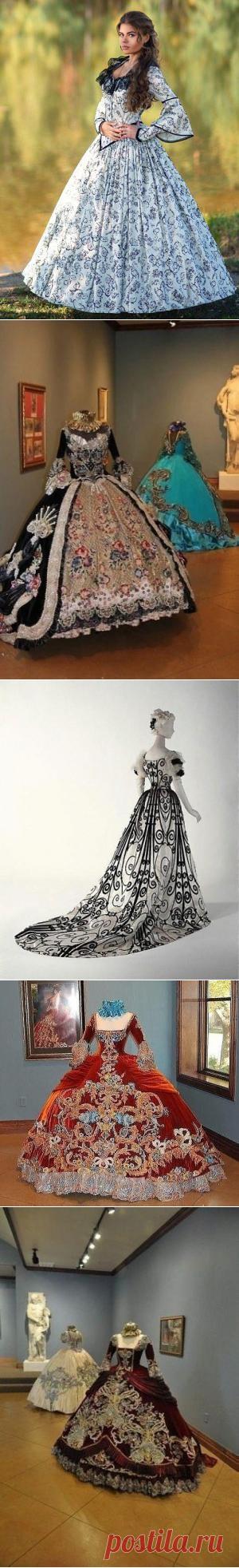 Помпезность и шарм в платьях XIX века