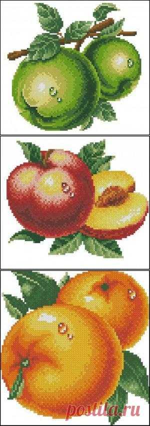 Вышивка крестом фрукты. Схемы вышивки фруктов | Энциклопедия рукоделия