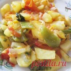 Рагу из кабачков и картошки