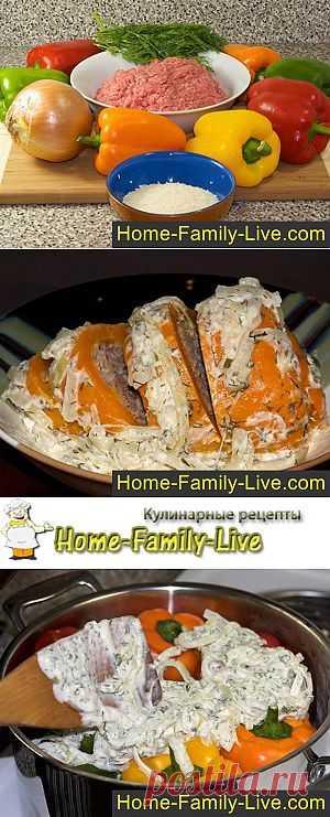 Фаршированные перцы - пошаговый фоторецепт голубцов из перца   Кулинарные рецепты