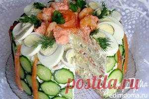 Скандинавский закусочный торт (кухни народов мира) | Кулинарные рецепты от «Едим дома!»