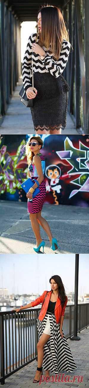 Блоггеры ломают полосы - зигзаги в одежде (трафик) / Тенденции / Модный сайт о стильной переделке одежды и интерьера