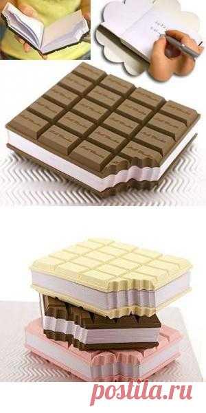 """Блокнот """"Плитка шоколада"""" (180 руб)"""