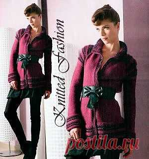 Длинный элегантный пиджак - KnittedFashion.info