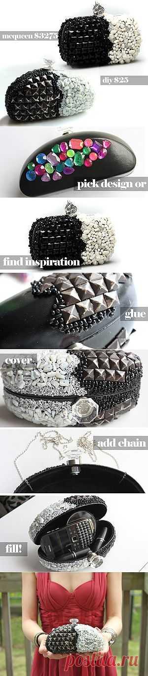 Делаем клатч от McQueen(мастер-класс) / Сумки, клатчи, чемоданы / Модный сайт о стильной переделке одежды и интерьера