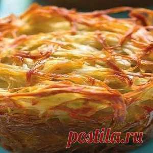 De hortalizas kugel — es fabulosamente sabroso rápidamente y fácilmente. El segundo plato hermoso con las raíces hebreas