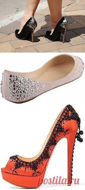 Декор каблуков / Обувь / Модный сайт о стильной переделке одежды и интерьера
