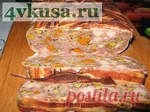 Террин мясной с фисташками и курагой | 4vkusa.ru