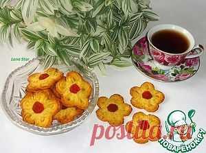 """Цитрусовое печенье """"Цветочки"""" - кулинарный рецепт"""