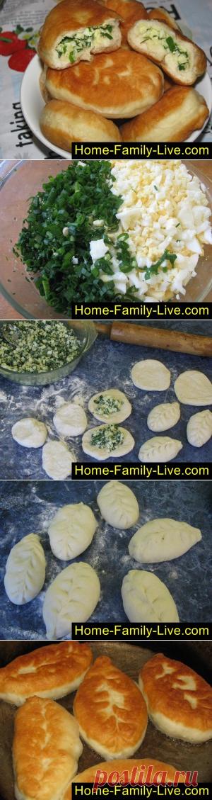 Пирожки с луком и яйцом/Сайт с пошаговыми рецептами с фото для тех кто любит готовить
