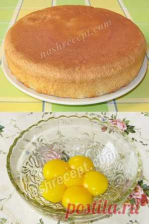 Бисквитный торт. Классический рецепт c пошаговыми фото   Наш Рецепт. Вкусные рецепты