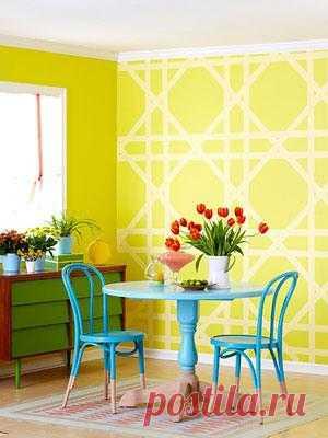 Если вы любите переделывать все в своем доме своими руками и не боитесь ярких цветов, то этот пост для вас.