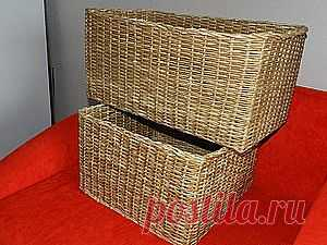 МК по плетению прямоугольной (квадратной) корзины - Ярмарка Мастеров - ручная работа, handmade