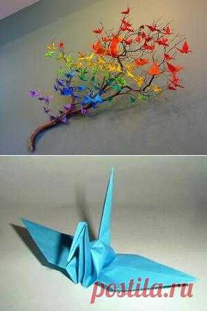 Аист в технике оригами – идеи для декорирования стен :: Журнал Мир Женщин информационно-познавательный онлайн-путеводитель для женщин рецепты мода красота