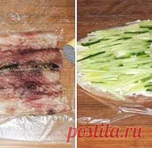 """Vkusneyshaya y la colación original del arenque - """"Суши по-нашему"""""""