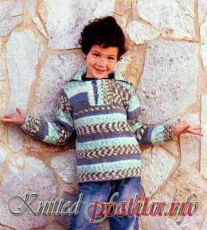 Джемпер для мальчика - KnittedFashion.info