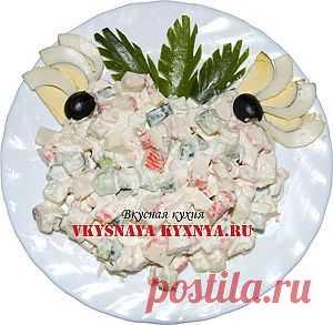 Салат крабовые палочки рис яйца. Рисовый салат с крабовыми палочками. | Вкусная кухня