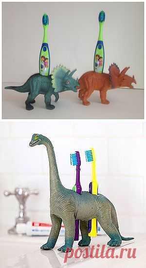 Еще одна идея как использовать динозавров:-) / Ванна / Модный сайт о стильной переделке одежды и интерьера
