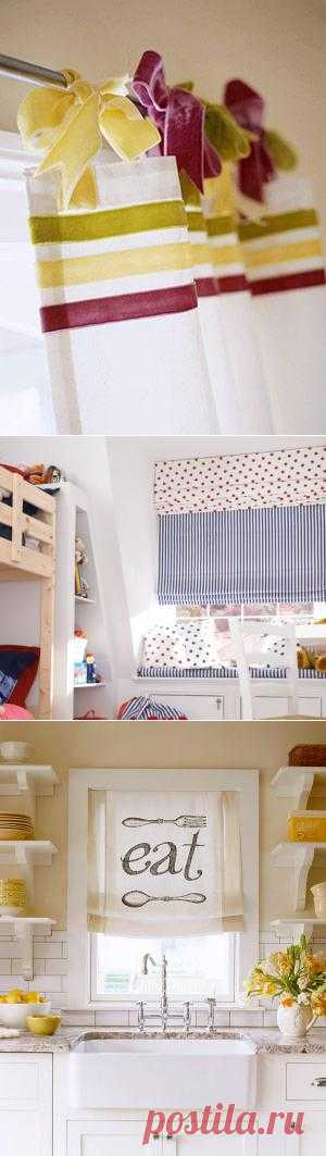 Оригинальное оформление занавесок и штор.