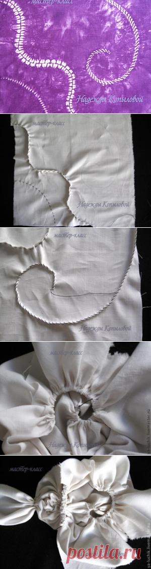 """Роспись тканей в технике """"шибори"""" - Ярмарка Мастеров - ручная работа, handmade"""