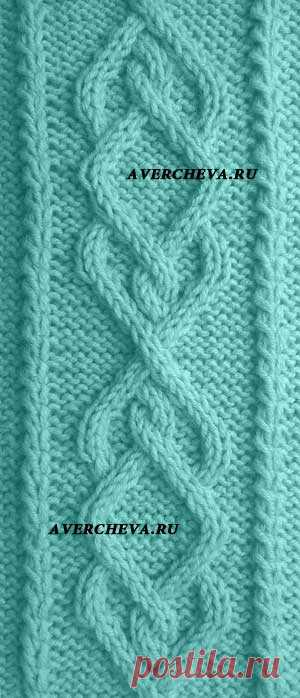 simple braid spokes Scheme of a pattern: In the scheme front and back ranks are specified. Width of motive is 24 loops! In height we repeat with 1st on the 30th row! It is FORBIDDEN to PLACE the SCHEME of the PATTERN ON THIRD-PARTY the INTERNET RESOURCES!!!! The scheme of a pattern belongs to the website Avercheva.ru it is FORBIDDEN to PLACE the SCHEME of the PATTERN ON THIRD-PARTY the INTERNET RESOURCES!!!! Symbols to the scheme: The EMPTY SECTION-back loop (back in front ranks, front - in back) front (front in front ranks, iznano...
