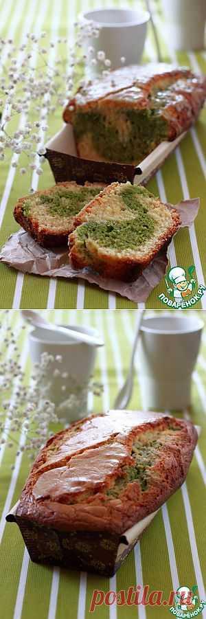 Кекс с белым шоколадом и зеленым чаем Matcha - кулинарный рецепт