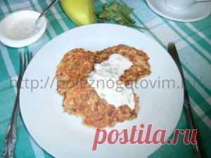 Вкусные оладьи из кабачков с болгарским перцем