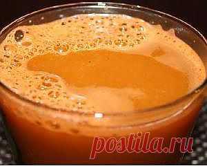 Исцеляющий морковный напиток.