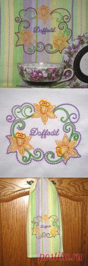 daffodil spring flower embroidery frames floral kitchen designs