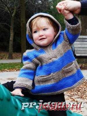 Двухцветные детские свитера вязание спицами