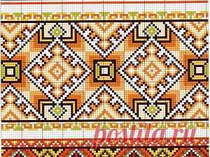 Обережная вышивка с примерами схем и значением символов По славянским народным костюмам можно прочесть историю народа. Если девушка носила одну косу и кокошник, значит, она не замужем. По полосам на подоле сарафана взрослой женщины можно было понять, в какой местности она живет, чем зарабатывает на жизнь ее семья. Вышитый рисунок обычно являлся данью уважения языческим богам. Национальные орнаменты были пронесены через века и теперь украшают и русские рубахи, и украинские вышиванки.